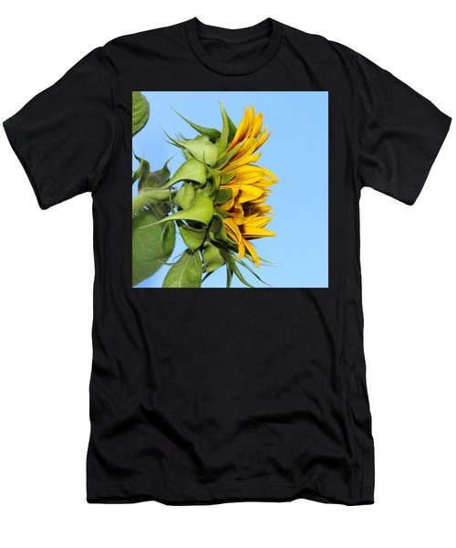 Reaching Sunflower Men's T-Shirt (Athletic Fit)
