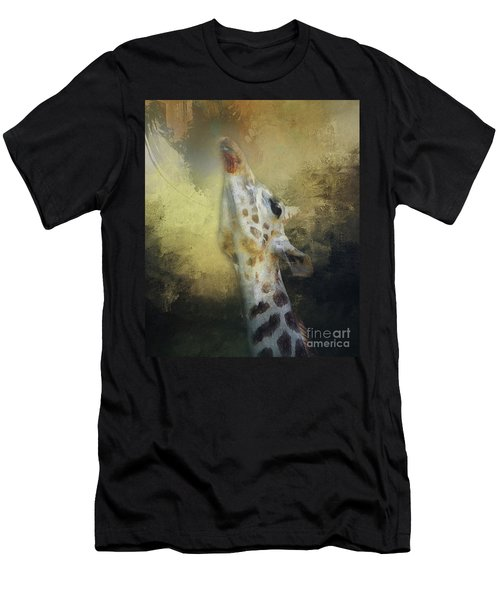 Reaching Giraffe Men's T-Shirt (Athletic Fit)