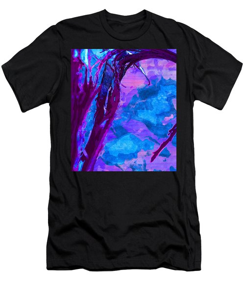 Reaching Into Blue Men's T-Shirt (Athletic Fit)