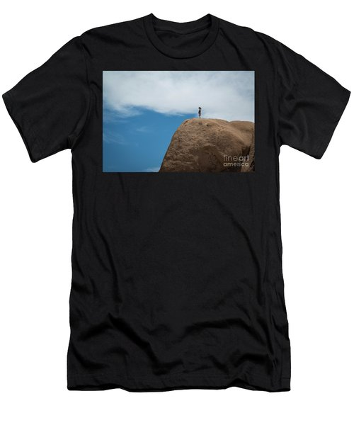 Reaching The Top Of The Rock Men's T-Shirt (Athletic Fit)