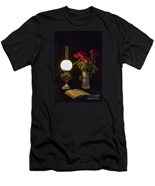 Reading By Oil Lamp Men's T-Shirt (Athletic Fit)
