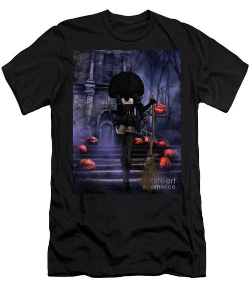 Ready Boys Halloween Witch Men's T-Shirt (Slim Fit) by Shanina Conway