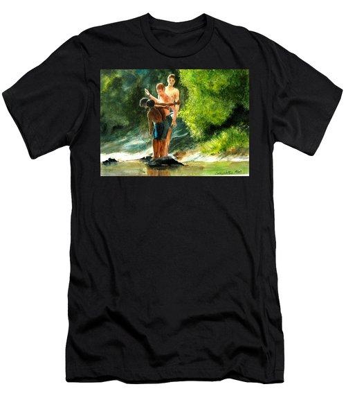Ready, Set Go Men's T-Shirt (Athletic Fit)