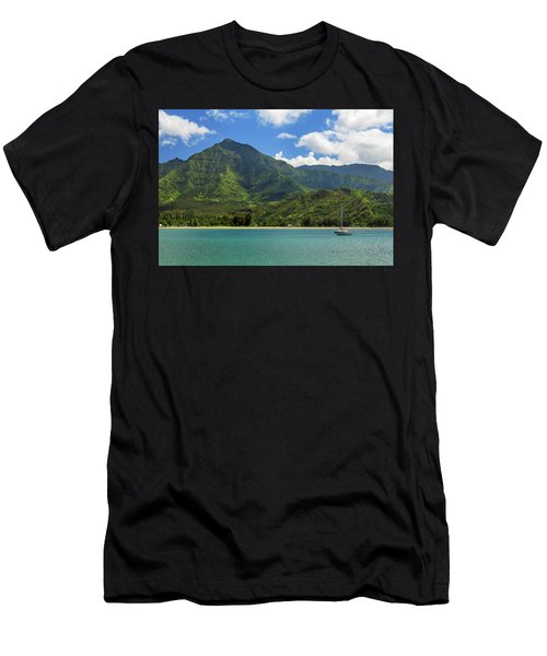 Ready To Sail In Hanalei Bay Men's T-Shirt (Athletic Fit)