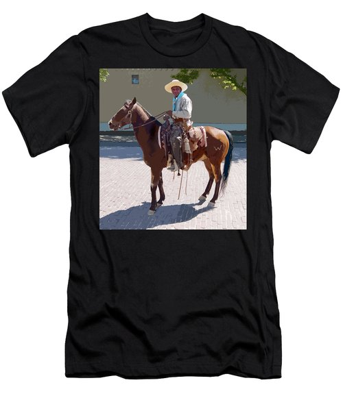 Real Cowboy Men's T-Shirt (Athletic Fit)