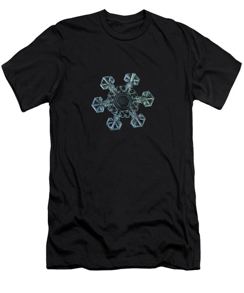 Real Snowflake - Ice Crown New Men's T-Shirt (Athletic Fit)