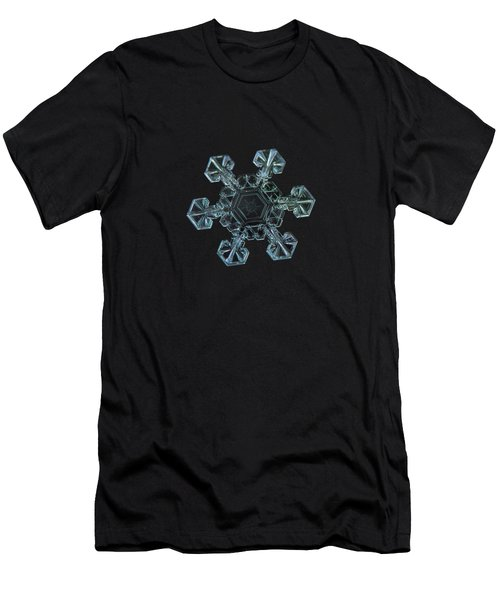 Men's T-Shirt (Athletic Fit) featuring the photograph Real Snowflake - Ice Crown New by Alexey Kljatov