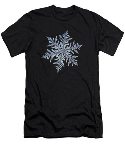 Real Snowflake - Silverware Black Men's T-Shirt (Athletic Fit)