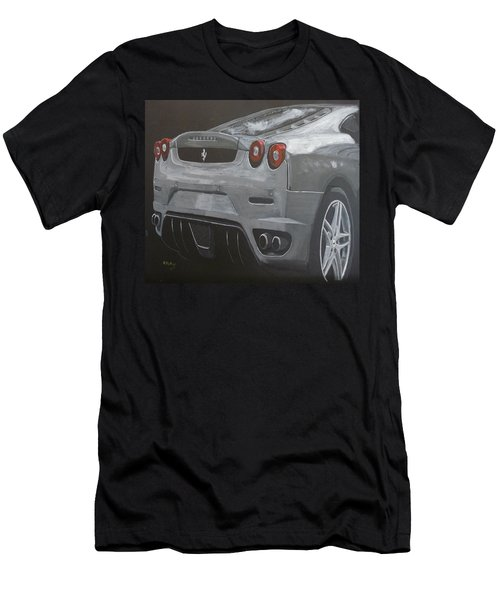 Men's T-Shirt (Athletic Fit) featuring the painting Rear Ferrari F430 by Richard Le Page