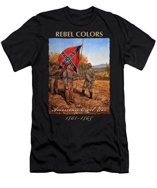 Rebel Colors - Confederate Color Sergeant - Flag Bearer - Fall Of 1862 Men's T-Shirt (Athletic Fit)