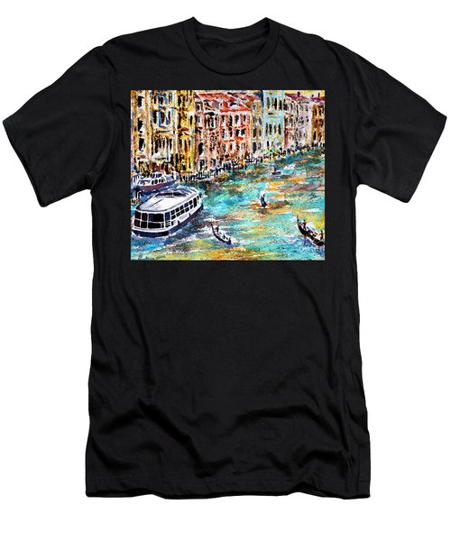 Men's T-Shirt (Slim Fit) featuring the painting Recalling Venice 01 by Alfred Motzer
