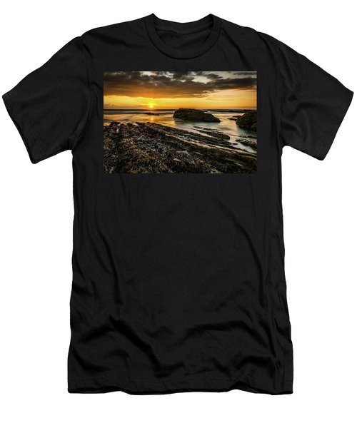 Men's T-Shirt (Athletic Fit) featuring the photograph Receding Tide by Nick Bywater