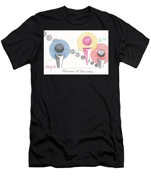 Recession Of Depression 1 Men's T-Shirt (Athletic Fit)
