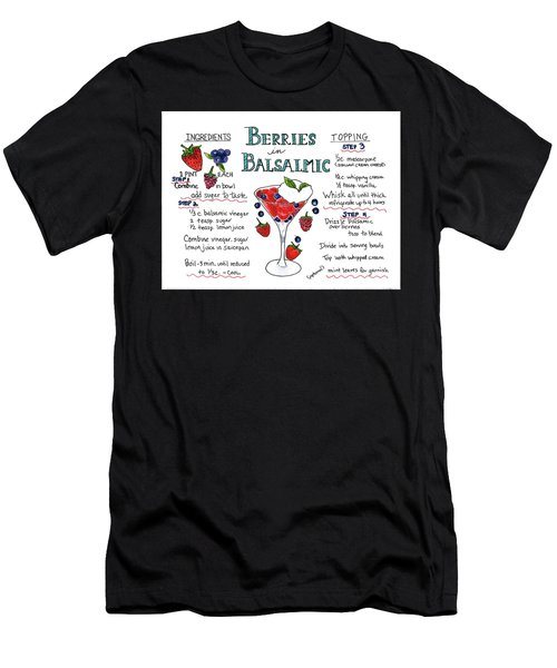 Men's T-Shirt (Athletic Fit) featuring the painting Recipe- Berries In Balsamic by Diane Fujimoto