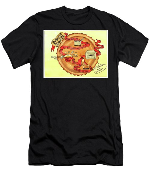 Men's T-Shirt (Athletic Fit) featuring the painting Recipe-butternut Squash Pie by Diane Fujimoto