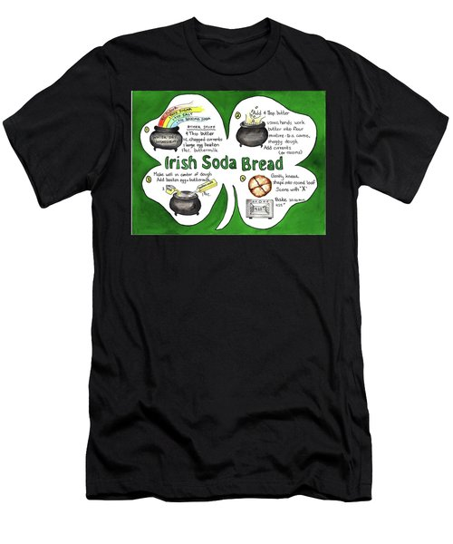 Men's T-Shirt (Athletic Fit) featuring the painting Recipe - Irish Soda Bread by Diane Fujimoto