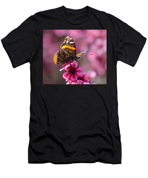Red Admiral Butterfly Men's T-Shirt (Athletic Fit)