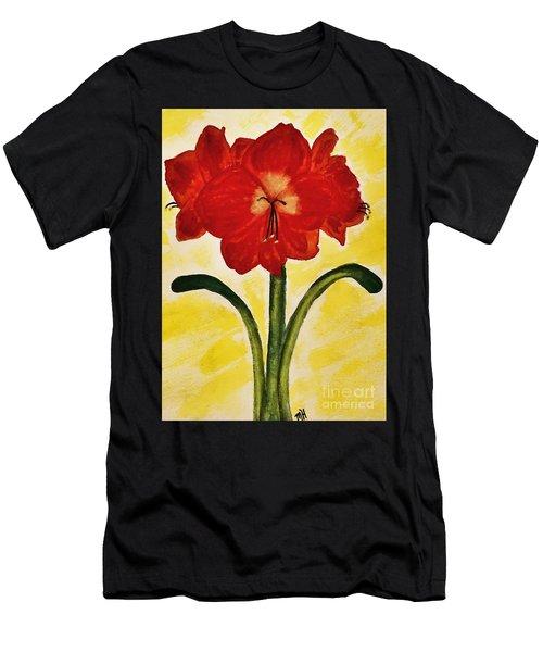 Red Amaryllis Men's T-Shirt (Athletic Fit)