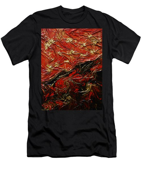 Red And Black Men's T-Shirt (Athletic Fit)