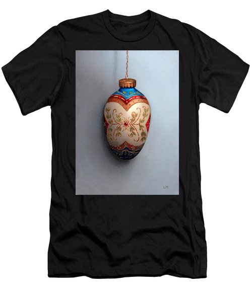 Red And Blue Filigree Egg Ornament Men's T-Shirt (Athletic Fit)