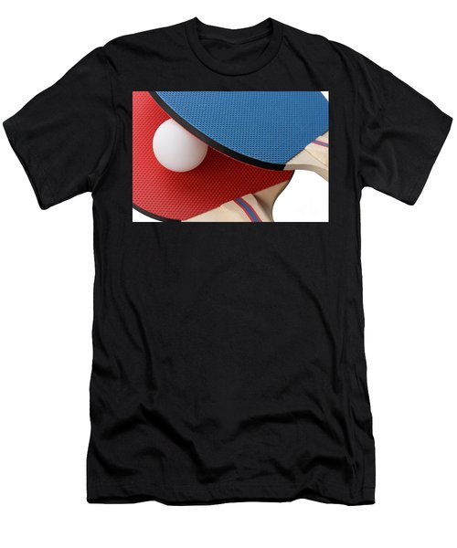 Red And Blue Ping Pong Paddles - Closeup Men's T-Shirt (Athletic Fit)