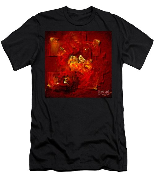 Red And Gold Men's T-Shirt (Athletic Fit)