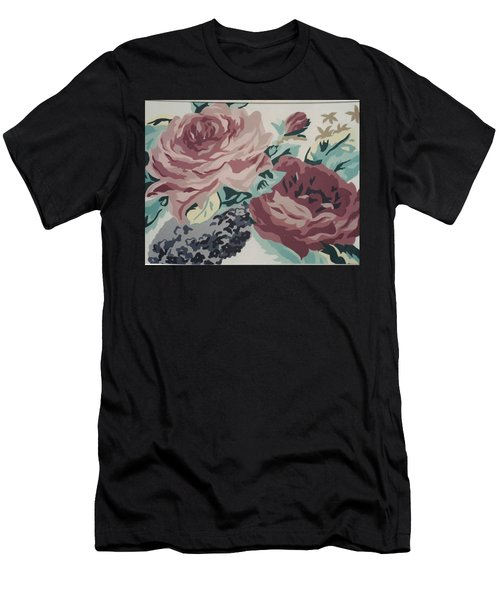 Red And Pink Flowers Men's T-Shirt (Athletic Fit)