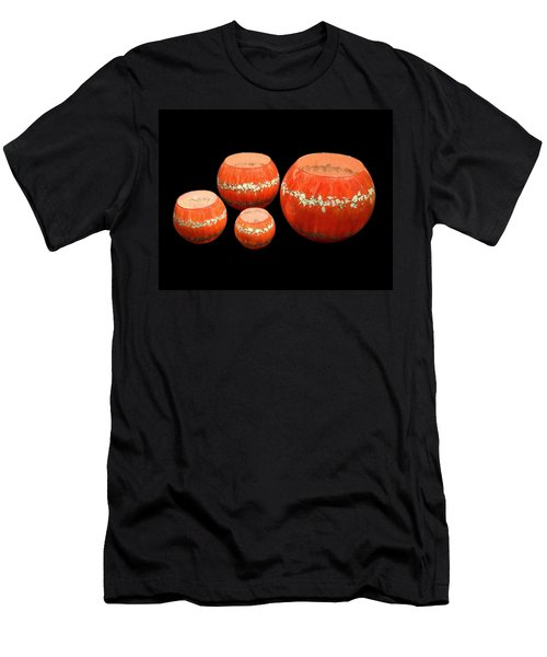 Red And White Bowls Men's T-Shirt (Slim Fit)