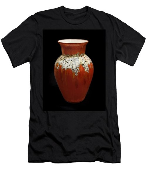 Red And White Vase Men's T-Shirt (Slim Fit)