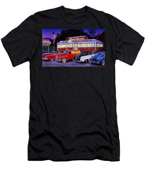 Red Arrow Diner Men's T-Shirt (Athletic Fit)