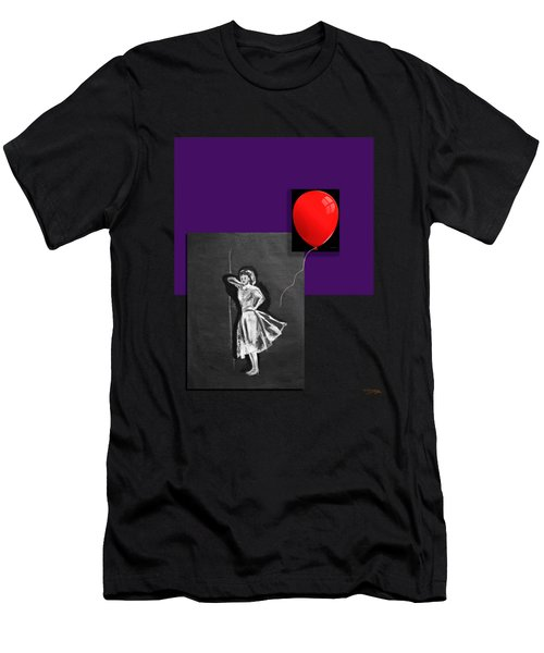 Red Balloon 2 Men's T-Shirt (Slim Fit) by Tom Conway