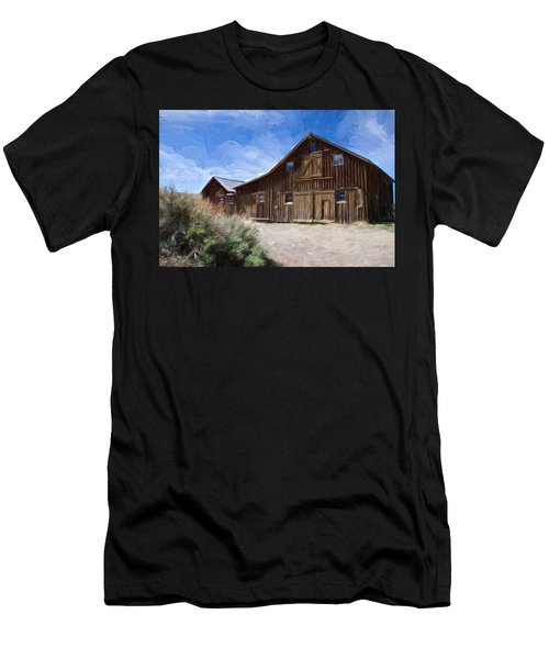 Red Barn Of Bodie Men's T-Shirt (Slim Fit) by Lana Trussell