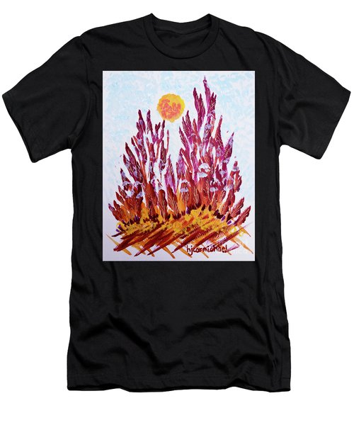Red Beauties In The Garden Men's T-Shirt (Athletic Fit)