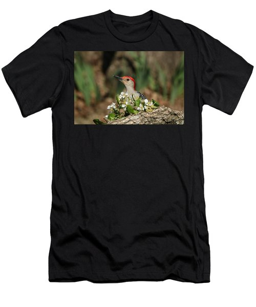 Red-bellied Woodpecker In Spring Men's T-Shirt (Athletic Fit)