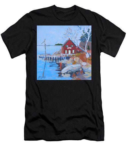 Red Boat House Men's T-Shirt (Athletic Fit)