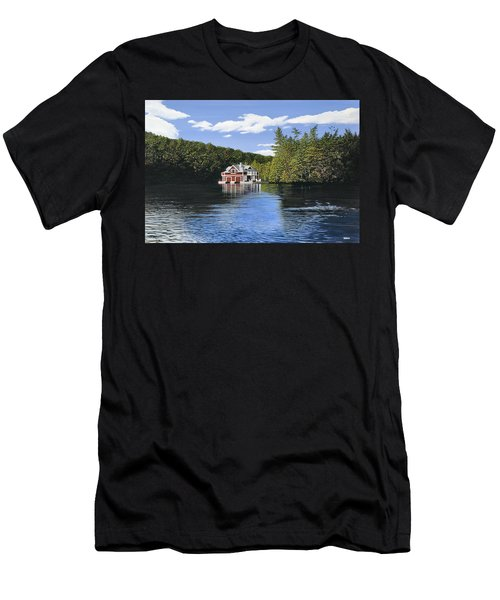 Red Boathouse Men's T-Shirt (Slim Fit) by Kenneth M  Kirsch