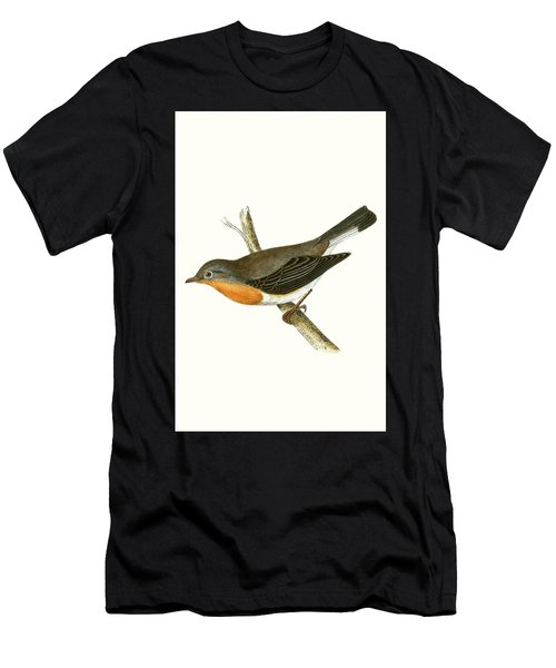 Red Breasted Flycatcher Men's T-Shirt (Athletic Fit)
