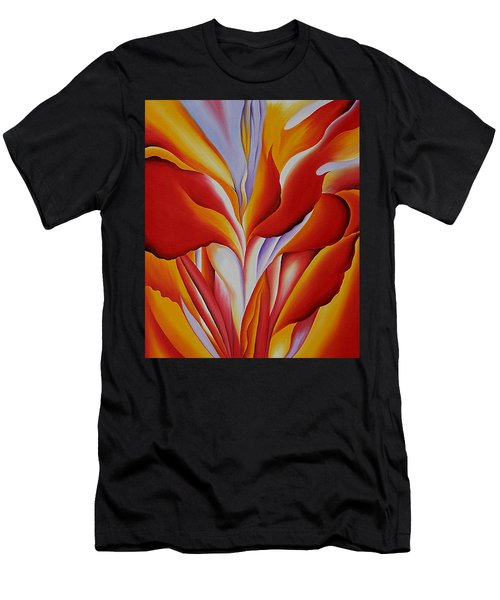 Red Canna Men's T-Shirt (Athletic Fit)
