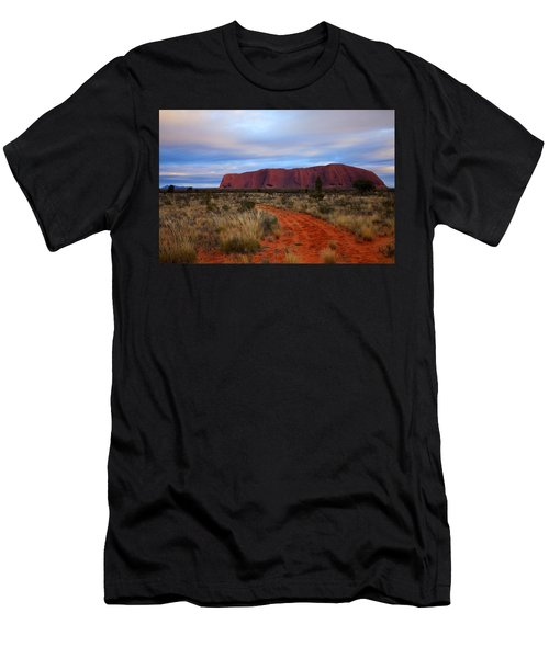 Red Center Dawn Men's T-Shirt (Athletic Fit)