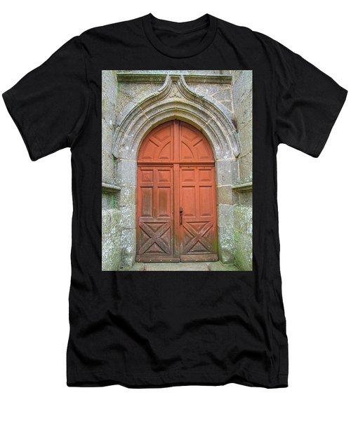 Red Church Door IIi Men's T-Shirt (Slim Fit) by Helen Northcott