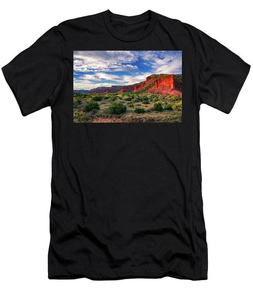 Red Cliffs Of Caprock Canyon Men's T-Shirt (Athletic Fit)