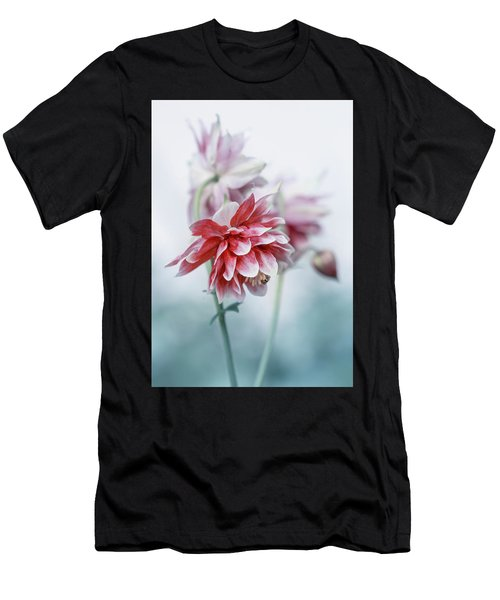 Men's T-Shirt (Athletic Fit) featuring the photograph Red Columbines by Jaroslaw Blaminsky