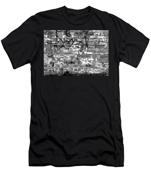 Red Construction Brick Wall And Spray Can Art Signatures Men's T-Shirt (Athletic Fit)