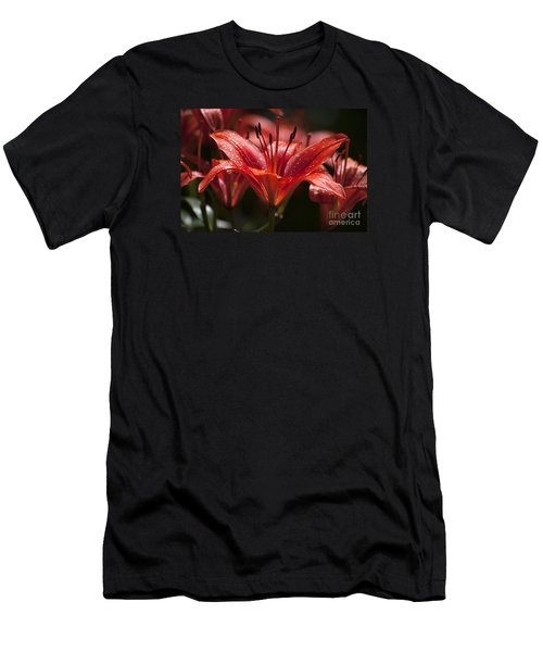 Red Day Lily 20120615_52a Men's T-Shirt (Athletic Fit)