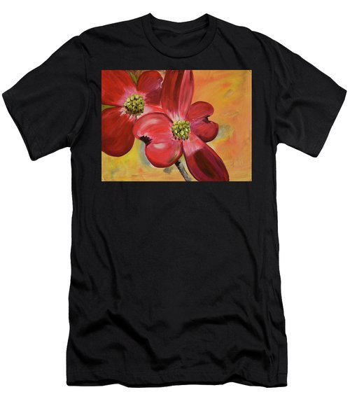 Red Dogwood - Canvas Wine Art Men's T-Shirt (Athletic Fit)