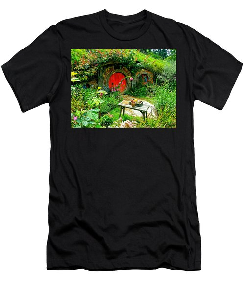 Red Door Hobbit Home Photo Men's T-Shirt (Athletic Fit)