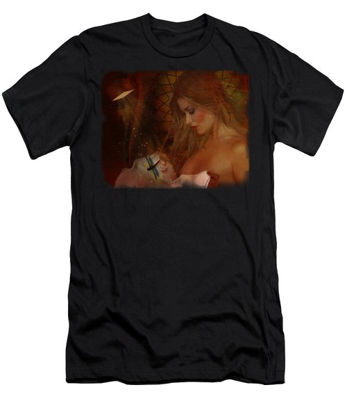 Red Dragonfly Men's T-Shirt (Athletic Fit)