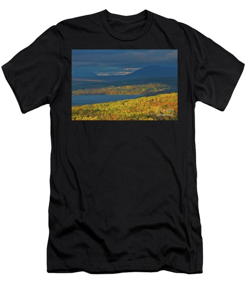 Red Farm House In Evening Light Men's T-Shirt (Athletic Fit)