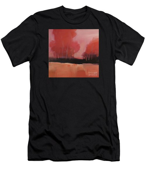 Men's T-Shirt (Athletic Fit) featuring the painting Red Flair by Michelle Abrams