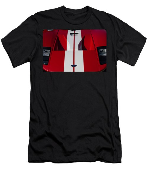 Red Ford Gt Hood Men's T-Shirt (Athletic Fit)